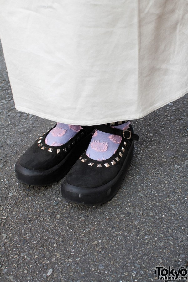 Tokyo Bopper studded suede shoes