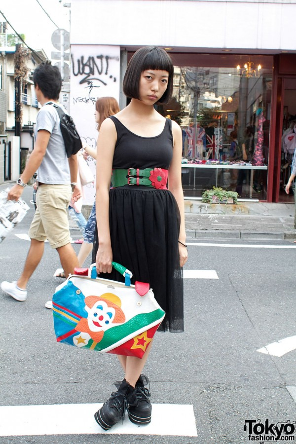 Uni-qlo Knit Dress & Clown Purse