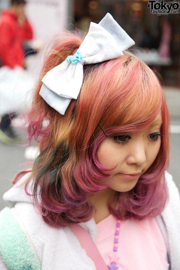 6 Dokidoki Bows Barbie Purse & Purple Tights