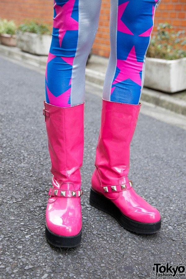 Kumamiki & Junnyan' Super-colorful Harajuku Street Style