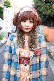 harajuku girl's twin hair buns
