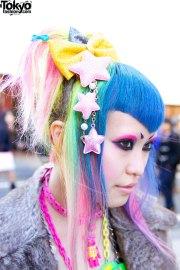 6 dokidoki vani with rainbow hairstyle
