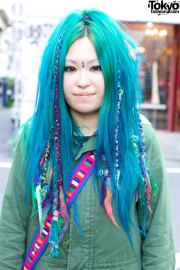 harajuku girls with turquoise hair