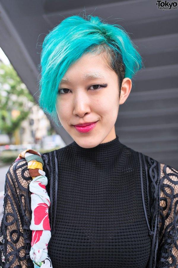 Blue Hair & Destroy Bag Colorful Mouse Bracelet