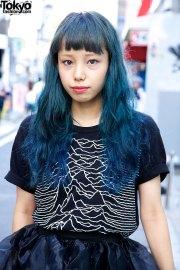 harajuku girl with blue hair nadia