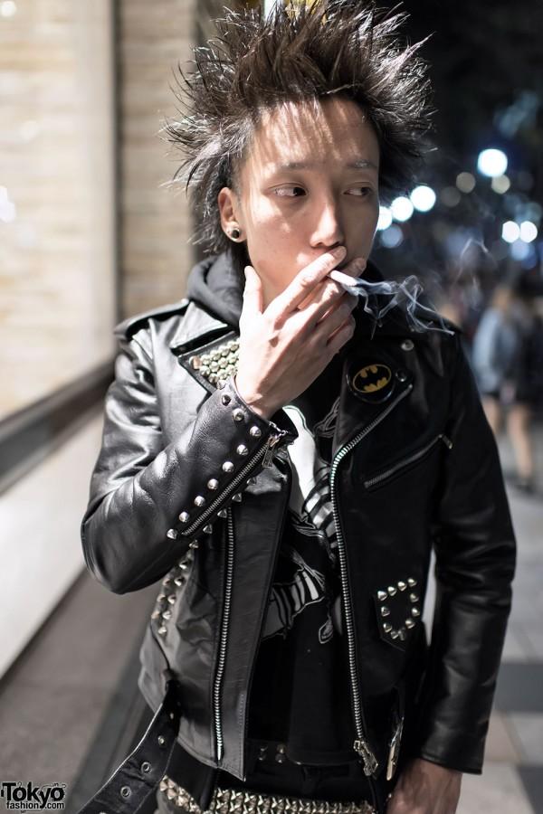 Harajuku Punk In Studded Leather Jacket Amp Boots