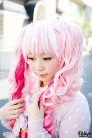 kawaii pink twintails & baby