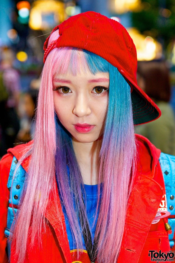 Eva Cheung In Harajuku W Pink Blue Hair Dee Amp Ricky And