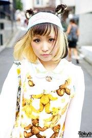 two tone hairstyle kawaii teddy