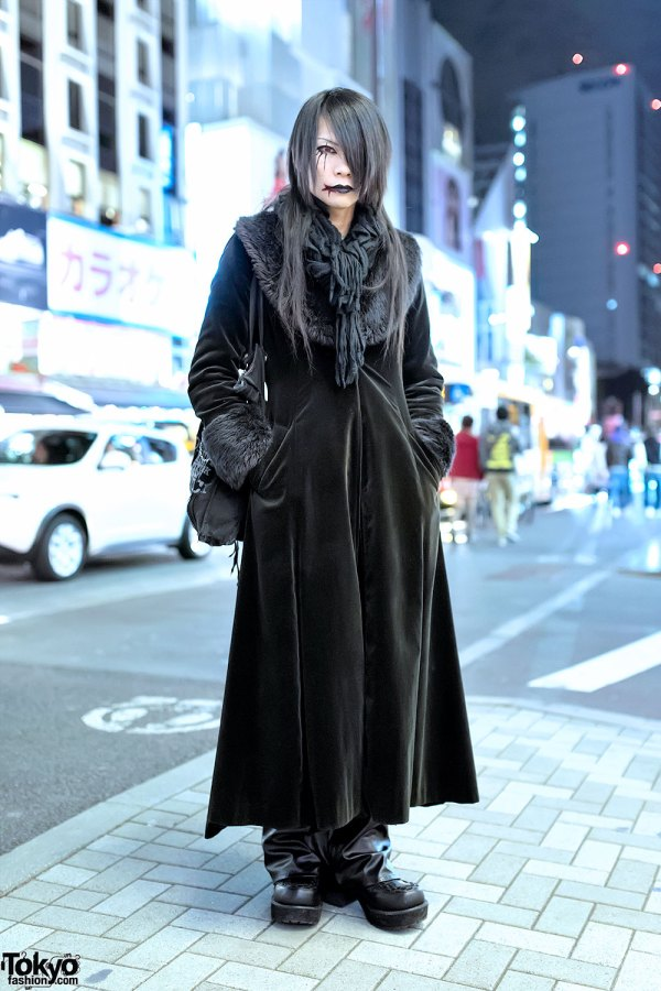Harajuku Visual Kei Style With Black Peace & .naoto