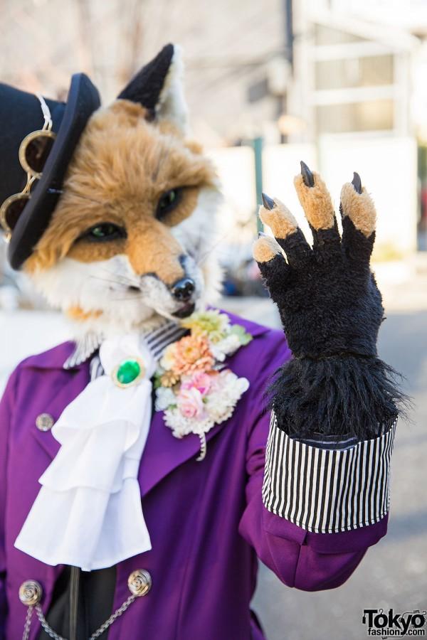 Harajuku Fox in Purple Coat