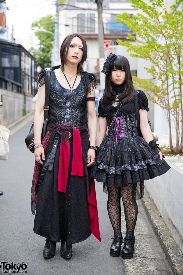 Gothic Duo In Harajuku With .naoto Corsets Chrome Hearts