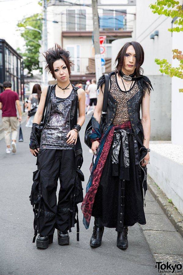 Visual Kei Fans In Harajuku With .naoto Chrome Hearts