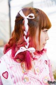 harajuku girls in pink with dip dye