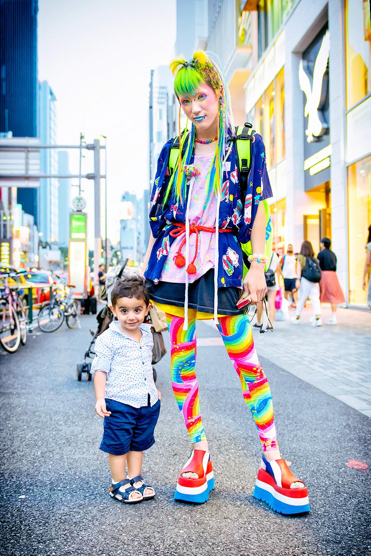 Colorful  Kawaii 6DOKIDOKI Fashion On The Street in Harajuku