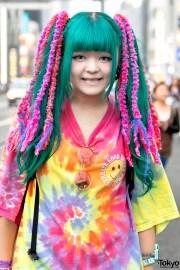 harajuku girls with colorful hair