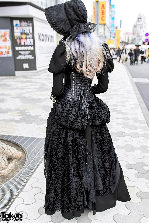 Harajuku Gothic Lace Street Style w Abilletage Corset  Vimoque