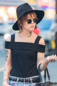 Tattooed Harajuku Girl in Emoda Off Shoulder Top, Fringe ...