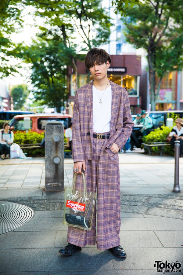 Vintage Plaid Harajuku Fashion With Comme Des Garcons X