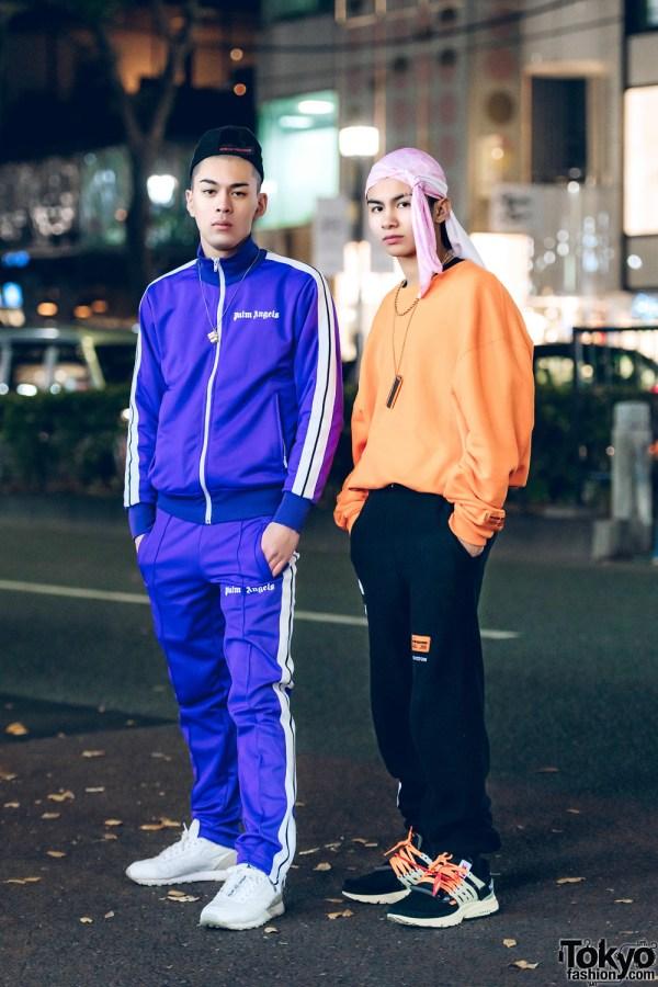 Harajuku Teens In Cool Sportswear Street Styles With Palm