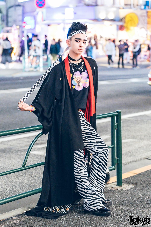 japanese streetwear w kimono