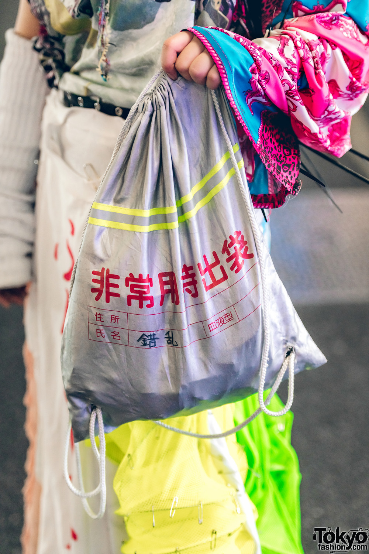 Colorful Japanese AvantGarde Street Fashion w Dog