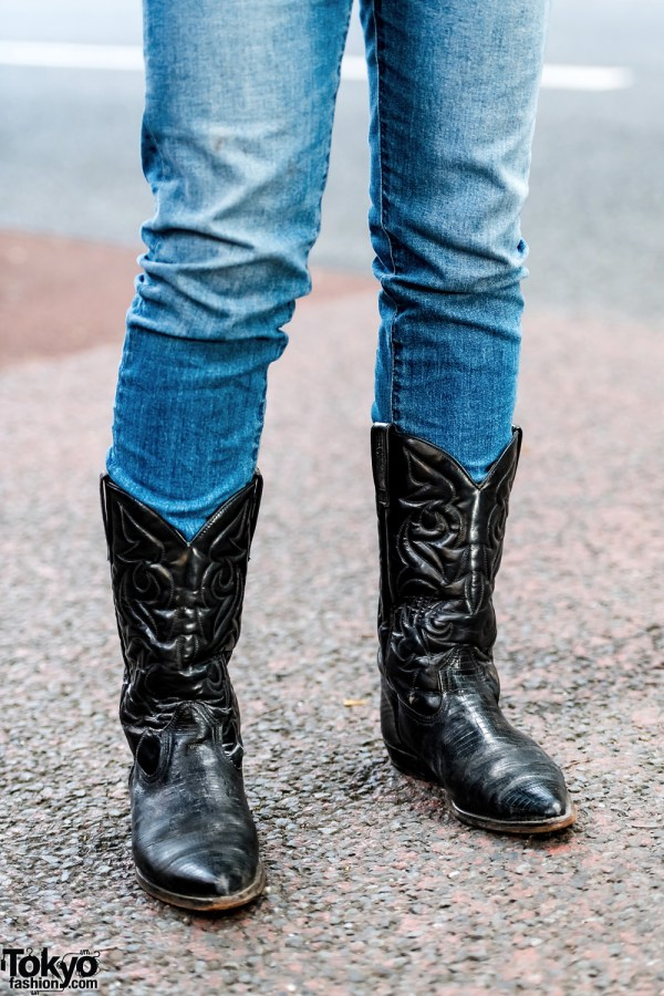 Harajuku Men' Streetwear Styles With Cowboy Boots Fringe