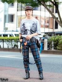 Harajuku Fringe & Plaid Street Style w/ Banal Chic Bizarre