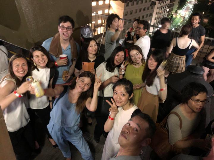 international event people having fun