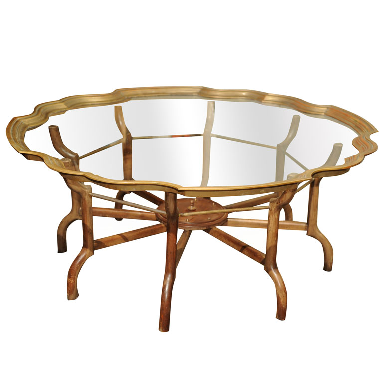 a clear choice vintage baker brass and glass coffee table. Black Bedroom Furniture Sets. Home Design Ideas