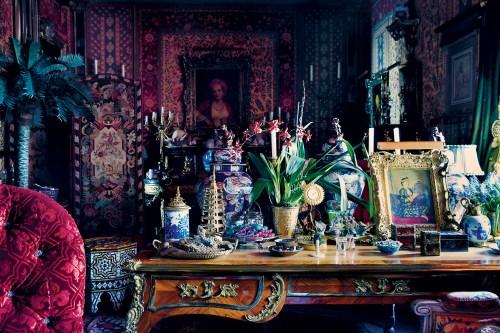 Howard Slatkin Orientalist screening room