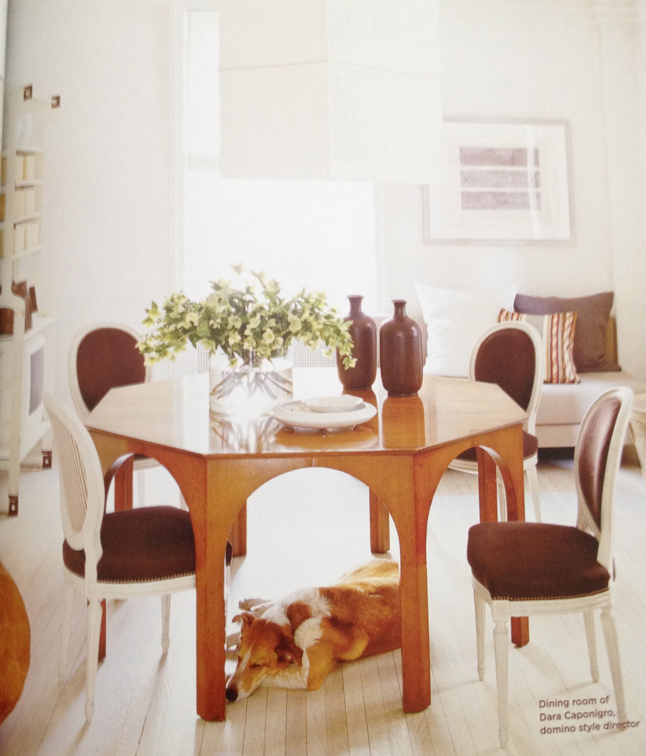 Dining room option three inspiration from t h robsjohn for T shaped dining room