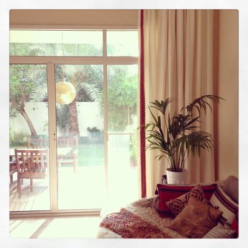 Nathalies living room curtain trim