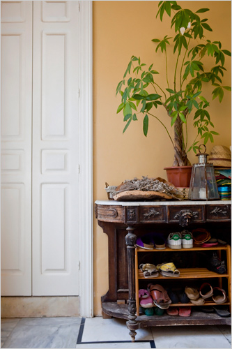 shoe cupboard antique console