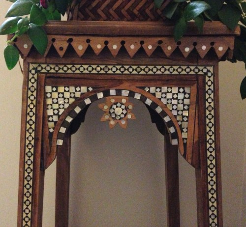 inlay table detail