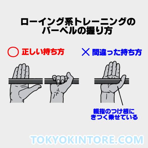 バーベルやダンベルの正しい握り方