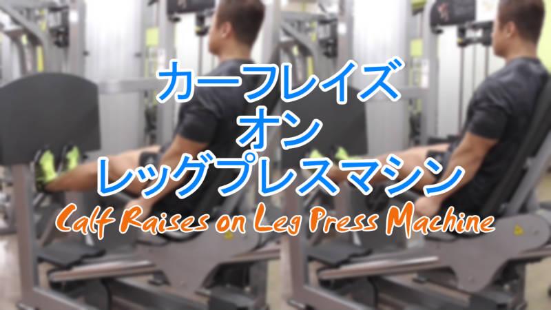 カーフレイズオンレッグプレスマシン(Calf Raise on Leg Press Machine)のやり方とフォーム