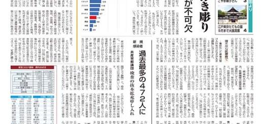 東京民報2020年8月9日16日合併号