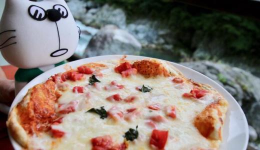 奥多摩グルメ 渓流を眺めながらマルゲリータピザをいただきます!【PR】