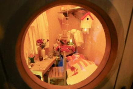 ムーミン屋敷の2階にあるリトルミイの小さな部屋