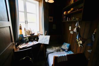 ムーミン屋敷の2階にあるムーミンの部屋