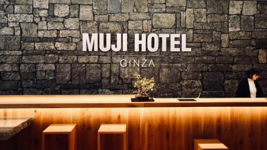 MUJI HOTEL GINZAチェックインカウンター
