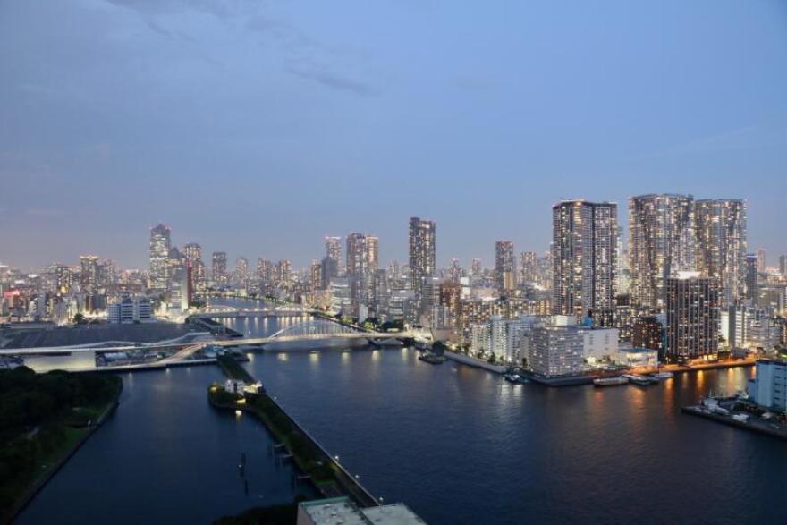 メズム東京からの夜景