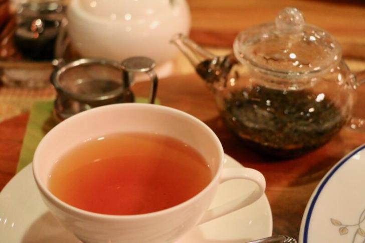 食後はコーヒーまたは和紅茶