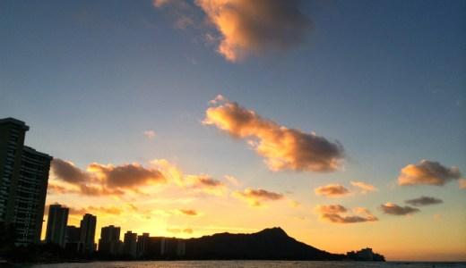 【ハワイ・ホノルル旅行記】ダイヤモンドヘッドからの朝日は超絶景!ワイキキビーチを朝散歩