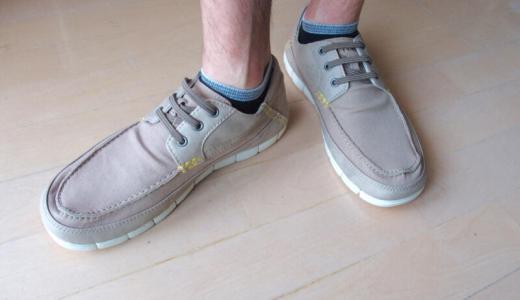 夏に履きやすいクロックスのスニーカーを履いてみた