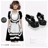 Tokyo.Girl Maid Dress Black Ad