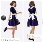Tokyo.Girl Maid Dress Blue2 Ad