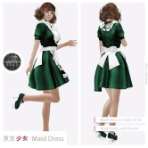Tokyo.Girl Maid Dress Green2 Ad