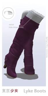 Tokyo.Girl . Lyke Boots . Purple Ad